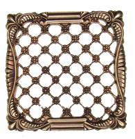 Clearance Items - Stamped Square Filigree Case Ornament