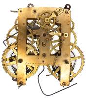 Movements, Motors, Rotors, Fit-Ups & Related - Mechanical Movements & Related Components - TT-21 - C4077 8-Day Kitchen Clock Movement