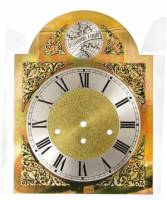 Clock Repair & Replacement Parts - Dials & Related - Silver & Brass Tempus Fugit Arch Dial - 250mm x 250mm x 330mm