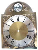 Clock Repair & Replacement Parts - Dials & Related - Silver & Brass Tempus Fugit Arch Dial - 280mm x 280mm x 375mm