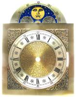 Clock Repair & Replacement Parts - Dials & Related - Silver & Brass Moon Phase Arch Dial - 200mm x 200mm x 260mm