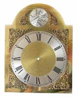 Clock Repair & Replacement Parts - Dials & Related - Silver & Brass Economy Aluminum Arch Dial - 150mm x 150mm x 200mm