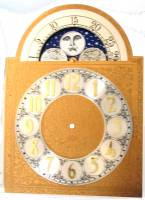 Metal Dials - Arch Dials, Moon Dials and Discs - Silver & Brass Moon Phase Arch Dial - 300mm x 300mm x 420mm
