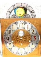 Metal Dials - Moon Dials and Discs - Silver & Brass Moon Phase Arch Dial - 280mm x 280mm x 395mm