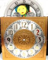 Clock Repair & Replacement Parts - Dials & Related - Silver & Brass Moon Phase Arch Dial - 280mm x 280mm x 395mm
