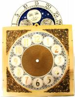 Metal Dials - Arch Dials, Moon Dials and Discs - Silver & Brass Moon Phase Arch Dial - 250mm x 250mm x 352mm