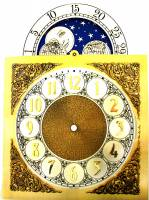 Metal Dials - Moon Dials and Discs - Silver & Brass Moon Phase Arch Dial - 250mm x 250mm x 352mm
