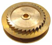 Wheels & Wheel Blanks, Motion Works, Fans & Relate - Ratchet Wheels & Intermediate Wheels - Chain Gear for German Clocks    51.0 x 40.0mm   Winds Counterclockwise  (For 43 LPF Chain)