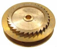 Wheels & Wheel Blanks, Motion Works, Fans & Relate - Ratchet Wheels & Intermediate Wheels - Chain Gear for German Clocks    51.0 x 40.0mm  Winds Counterclockwise (For 43 LPF Chain)