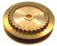 Wheels & Wheel Blanks, Motion Works, Fans & Relate - Ratchet Wheels & Intermediate Wheels - Chain Gear for German Clocks    51.0 x 40.0mm   Winds Clockwise (For 43 LPF Chain)