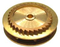 Wheels & Wheel Blanks, Motion Works, Fans & Relate - Ratchet Wheels & Intermediate Wheels - Chain Gear for German Clocks    51.0 x 40.0mm   Winds Clockwise  (For 39 LPF Chain)