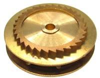 Wheels & Wheel Blanks, Motion Works, Fans & Relate - Ratchet Wheels & Intermediate Wheels - Chain Gear for German Clocks    51.0 x 40.0mm   Winds Clockwise (For 39 LPF Chain)