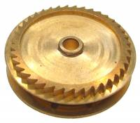 Wheels & Wheel Blanks, Motion Works, Fans & Relate - Ratchet Wheels & Intermediate Wheels - Chain Gear for German Clocks    51.0 x 46.0mm   Winds Counterclockwise