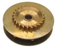 Wheels & Wheel Blanks, Motion Works, Fans & Relate - Ratchet Wheels & Intermediate Wheels - Chain Gear for German Clocks   39.5 x 25.0mm   Winds Clockwise