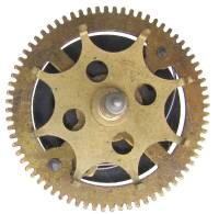 Clock Repair & Replacement Parts - Ratcheting Chain Wheel  37.0mm x 72 Teeth x 27.5mm Arbor With Actuator Wheel