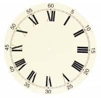"Metal Dials - Round Aluminum & Heavy Metal Backed Dials - 14-3/16"" White Dial With 12-3/16"" Time Track"