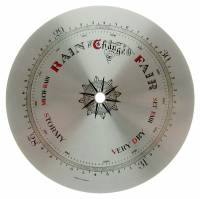 "Metal Dials - Round Aluminum & Heavy Metal Backed Dials - 6-3/8"" Barometer Dial with 4-7/8"" Pointer Track"