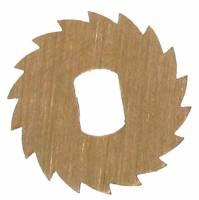 Wheels & Wheel Blanks, Motion Works, Fans & Relate - Ratchet Wheels & Intermediate Wheels - Brass 14.5mm Ratchet Wheel with Oblong Mounting Hole