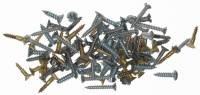 Fasteners - Screws (Inch & Metric Sizes) - 100-Piece Wood Screw Assortment
