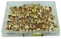Watch & Jewelry Parts & Tools - 100-Piece Assortment Long Pipe Yellow Watch Crowns.