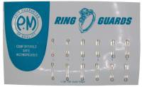 Watch & Jewelry Parts & Tools - 12-Piece White Ring Guard Assortment - All Sizes