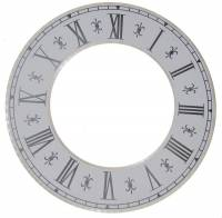 "Metal Dials - Round Aluminum & Heavy Metal Backed Dials - 7-1/4"" OD Fleur De Lys Time Ring"