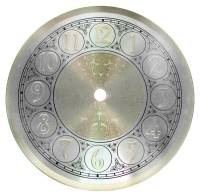 "Metal Dials - Round Aluminum & Heavy Metal Backed Dials - Fancy Aluminum 6-3/8"" Dial"