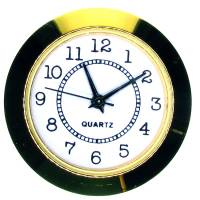 Clock Repair & Replacement Parts - 37mm (1-15/32) Economy Arabic Numeral Fit-Up - Gold Bezel/White Dial