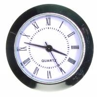 Clock Repair & Replacement Parts - 37mm (1-15/32) Economy Roman Numeral Fit-Up - Silver Bezel/White Dial