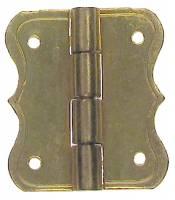 "Clock Repair & Replacement Parts - 5/8"" x 3/4"" Decorative Brass Hinge"
