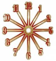"Clock Repair & Replacement Parts - Dials & Related - 4"" Arabic Plastic Time Ring - Full Set of 12 Numbers"