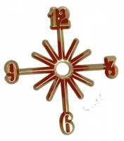 "Clock Repair & Replacement Parts - Dials & Related - 5"" Arabic Plastic Time Ring - Set of 4 Numbers - #3, #6, #9, #12"