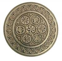 "Case Parts - Decorative Appliques - 1-1/4"" Stamped Brass Case Rosette"