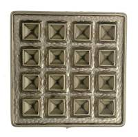 Case Parts - Decorative Appliques - Stamped Brass Square Case Ornament