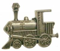 Case Parts - Decorative Appliques - Stamped Brass Train Case Ornament
