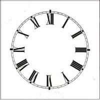 "Dials & Related - Porc-A-Dials - 6"" High Gloss White Roman Dial"