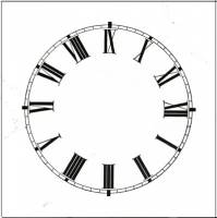 "Dials & Related - Paper Dials - 3-1/4"" High Gloss White Roman Paper Dial"