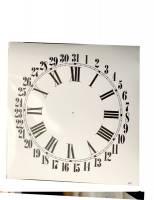 """Clock Repair & Replacement Parts - 4-3/4"""" White Roman Calendar Dial"""