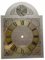 Clock Repair & Replacement Parts - Silver & Brass Tempus Fugit BreakArch Roman Dial