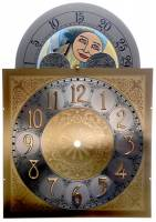 "Metal Dials - Arch Dials, Moon Dials and Discs - Moving Moon Arabic Dial  11"" x 11"" x 15-1/2"""