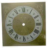 "Metal Dials - Square Metal Dials - 8"" Square Fancy Brass Dial"