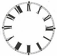"Metal Dials - Round Aluminum & Heavy Metal Backed Dials - 7"" Round White Roman Aluminum Dial"