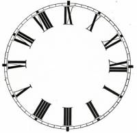 "Metal Dials - Round Aluminum & Heavy Metal Backed Dials - 8"" Round White Roman Aluminum Dial"