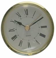 "Quartz Movements, Hardware and Tools - Fit-Ups (Also called Clock Inserts) - 63mm (2-1/2"") Roman White Dial Fitup"