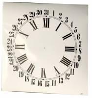 "Dials & Related - Porc-A-Dials - 11"" High Gloss White Roman Calendar Dial"