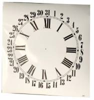 "Clock Repair & Replacement Parts - Dials & Related - 4-3/4"" White Roman Calendar Dial"