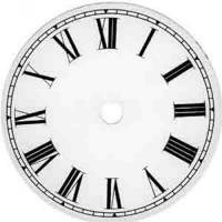 "Metal Dials - Round Aluminum & Heavy Metal Backed Dials - VO-12 - 7-7/8"" Roman Round Metal Dial"