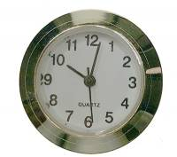 "Clock Repair & Replacement Parts - Movements, Motors, Rotors, Fit-Ups & Related - 25mm (1"") Arabic White Dial Fit-Up"
