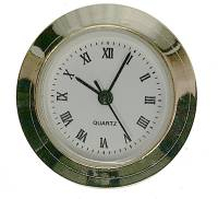 "Clock Repair & Replacement Parts - Movements, Motors, Rotors, Fit-Ups & Related - 25mm (1"") Roman White Dial Fit-Up"
