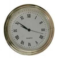 "Clock Repair & Replacement Parts - Movements, Motors, Rotors, Fit-Ups & Related - 40mm (1-9/16"") Roman White Dial Fit-Up"